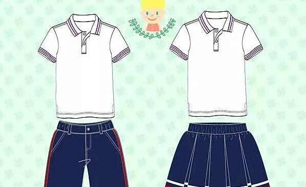夏装中学校服设计图纸