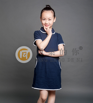 夏季轻中式学院短袖连衣裙